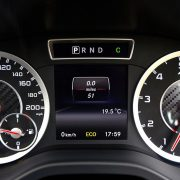 smart car mercedes benz with speed and meter black