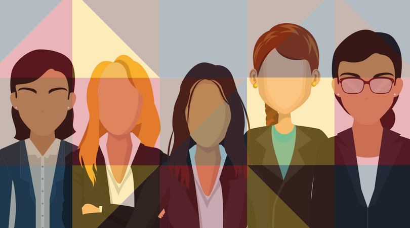 women in cybersecurity five colorful